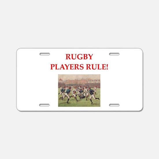 rugby joke Aluminum License Plate