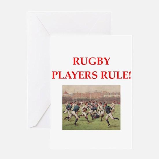 rugby joke Greeting Cards