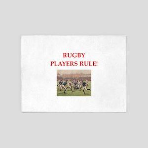 rugby joke 5'x7'Area Rug