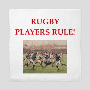 rugby joke Queen Duvet