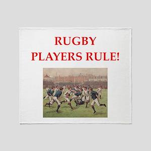 rugby joke Throw Blanket
