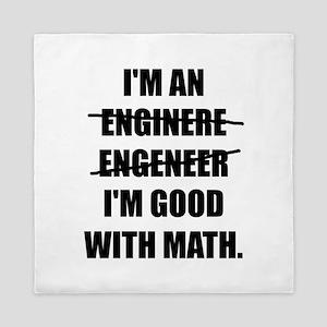 Engineer Good With Math Queen Duvet