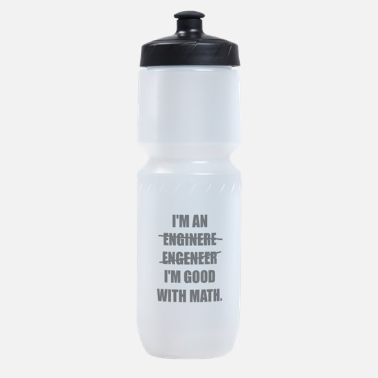 Engineer Good With Math Sports Bottle