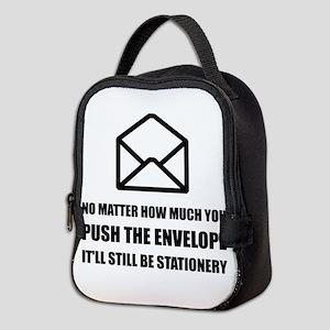 Envelope Stationery Neoprene Lunch Bag