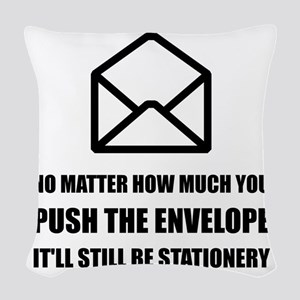 Envelope Stationery Woven Throw Pillow
