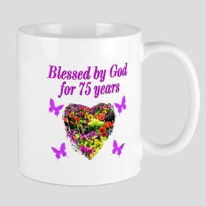 BLESSED 75TH Mug