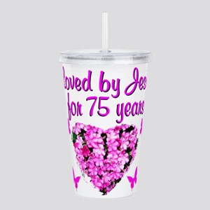 BLESSED 75TH Acrylic Double-wall Tumbler
