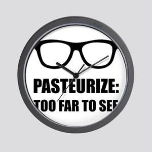 Pasteurize Too Far To See Wall Clock