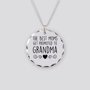 Promoted to Grandma Necklace Circle Charm