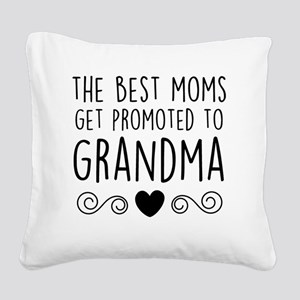 Promoted to Grandma Square Canvas Pillow