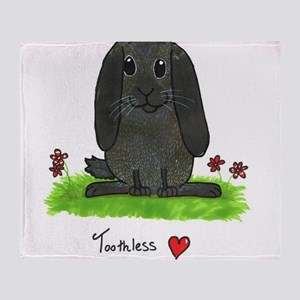 Chubby bunny toothless Throw Blanket