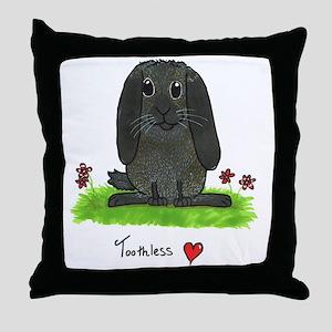 Chubby bunny toothless Throw Pillow