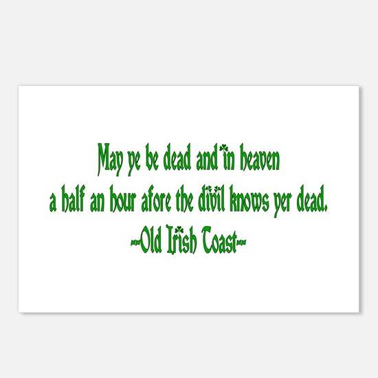 Irish Toast--Before Divil Kno Postcards (Package o