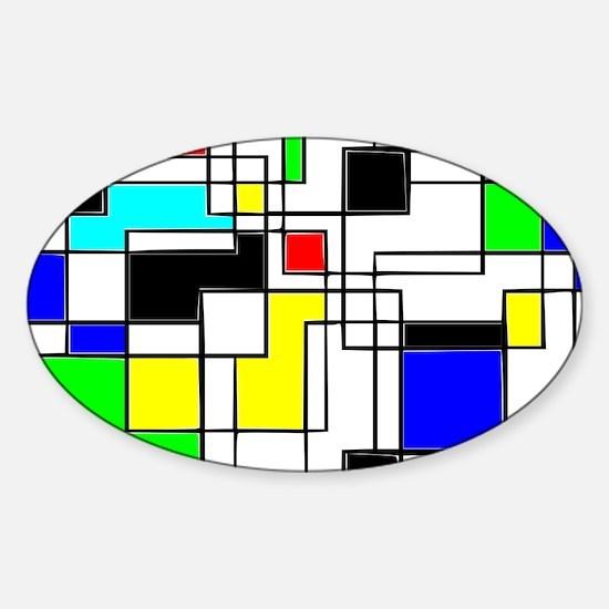 Random Squares Homage To Mondrian Decal