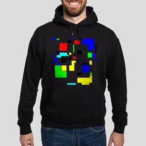 Random Squares Homage To Mondrian Hoodie (dark)