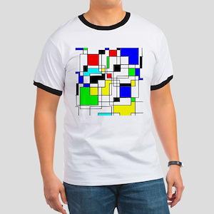 Random Squares Homage To Mondrian T-Shirt