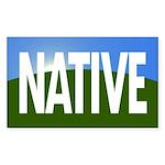 Native Of Earth Sticker (narrow)