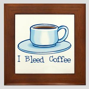 I Bleed Coffee Framed Tile