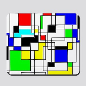 Random Squares Homage To Mondrian Mousepad