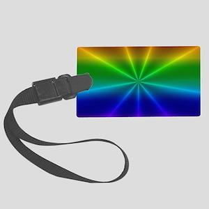 Gradient Rainbow Design Large Luggage Tag