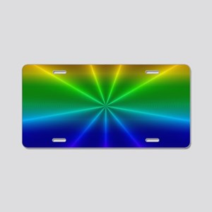 Gradient Rainbow Design Aluminum License Plate