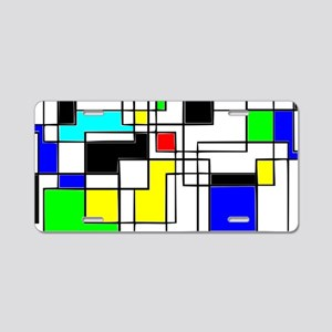 Random Squares Homage To Mo Aluminum License Plate