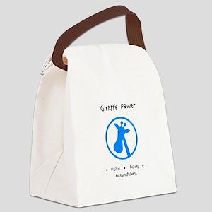 Blue Giraffe Animal Power Gifts Canvas Lunch Bag