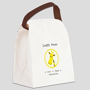 Yellow Giraffe Animal Power Gifts Canvas Lunch Bag