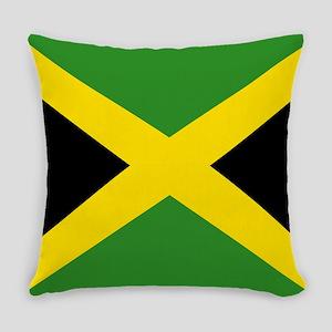 Jamaican Flag Everyday Pillow
