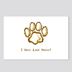 I Have Lion Power Gifts Postcards (Package of 8)