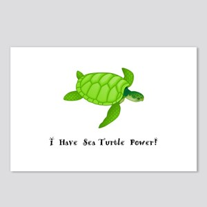 I Have Sea Turtle Power Gifts Postcards (Package o