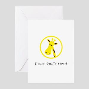 Yellow Giraffe Power Animal Gifts Greeting Cards