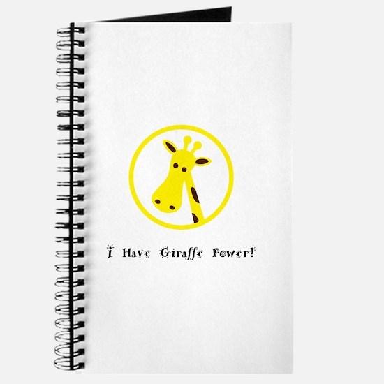 Yellow Giraffe Power Animal Gifts Journal
