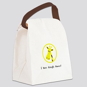 Yellow Giraffe Power Animal Gifts Canvas Lunch Bag