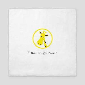 Yellow Giraffe Power Animal Gifts Queen Duvet