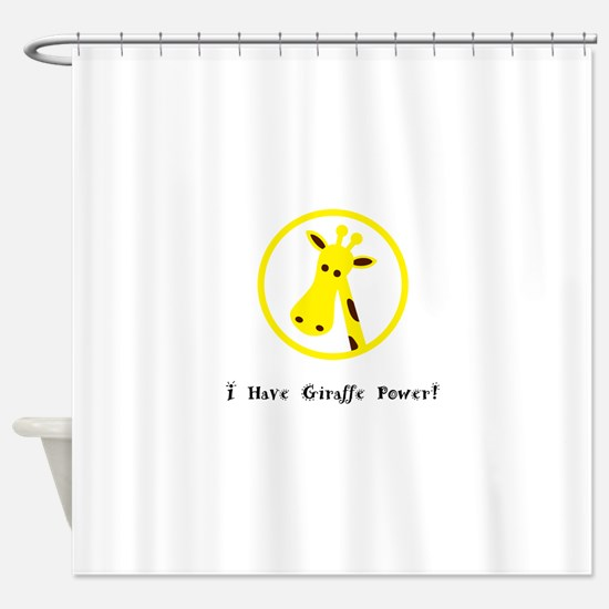 Yellow Giraffe Power Animal Gifts Shower Curtain
