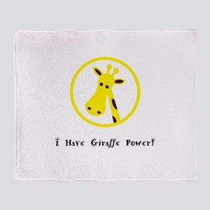 Yellow Giraffe Power Animal Gifts Throw Blanket