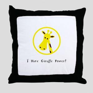 Yellow Giraffe Power Animal Gifts Throw Pillow