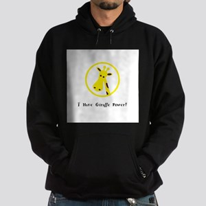Yellow Giraffe Power Animal Gifts Hoodie