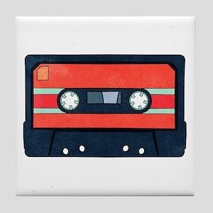 Red Cassette Tile Coaster