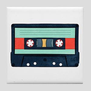 Indigo Cassette Tile Coaster
