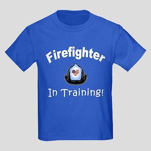 Firefighter In Training Kids Dark T-Shirt