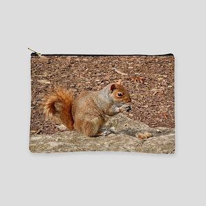 Cute Squirrel eating nuts Makeup Bag