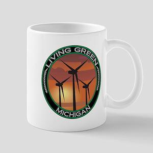 Living Green Michigan Wind Power Mug
