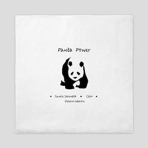 Panda Animal Power Gifts Queen Duvet