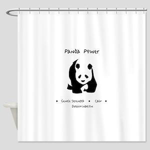 Panda Animal Power Gifts Shower Curtain