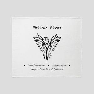 Phoenix Totem Power Gifts Throw Blanket