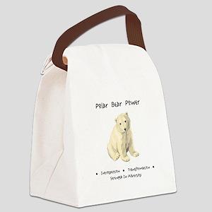 Polar Bear Animal Medicine Gifts Canvas Lunch Bag