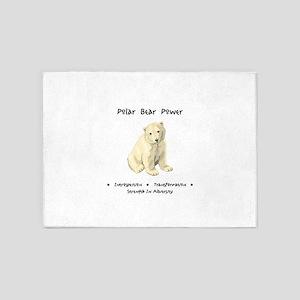 Polar Bear Animal Medicine Gifts 5'x7'Area Rug