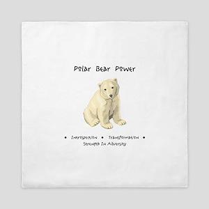 Polar Bear Animal Medicine Gifts Queen Duvet